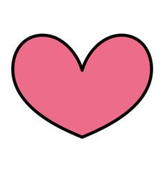 color nice heart shape love symbol vector image