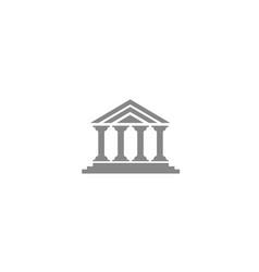 Columns roman temple building logo design vector