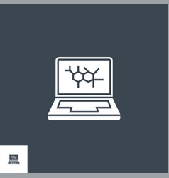Computer diagnostic related glyph icon vector