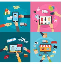 concepts of online payment methods confirmed vector image