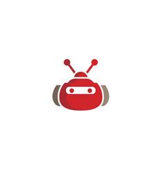 Creative red robot logo vector