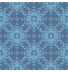 Desaturated blue lace snowflakes seamless pattern vector