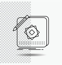 design app logo application design line icon on vector image