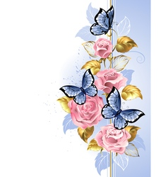 Design with Pink Roses vector image