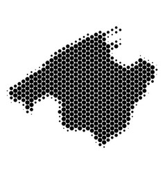 dot halftone spain mallorca island map vector image