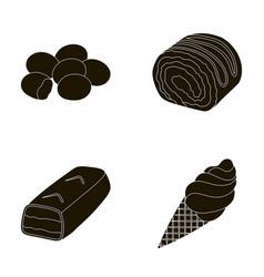 Dragee roll chocolate bar ice cream chocolate vector