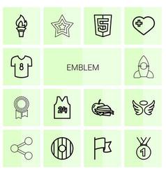 Emblem icons vector