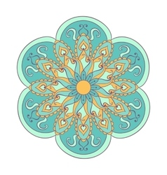 entangle stylized color arabic indian mandala vector image