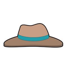 Farmer hat isolated icon vector