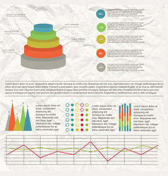 flat chart infographic vector image