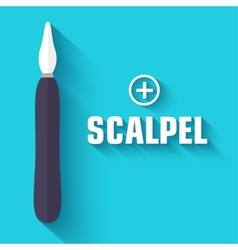 flat scalpel background concept vector image