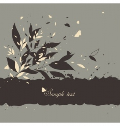 floral background with butterflies vector image