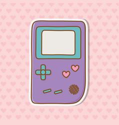 Game boy icon vector