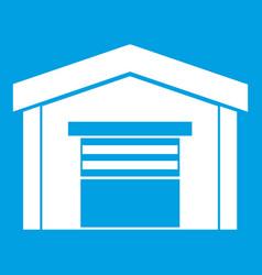 Garage icon white vector