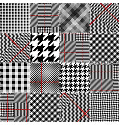 Glen plaid pattern vector