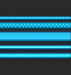 glowing blue led stripes seamless realistic vector image