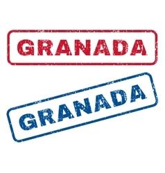Granada Rubber Stamps vector image