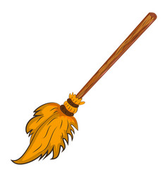 halloween creepy scary witches broomstick symbol vector image