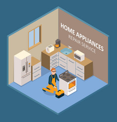 home appliances repair service vector image