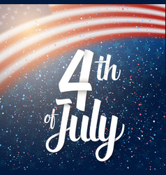 Independence day poster 4th july usa vector