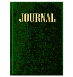 Journal book cover vector
