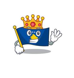 King indonesian flag kosovo on cartoon character vector