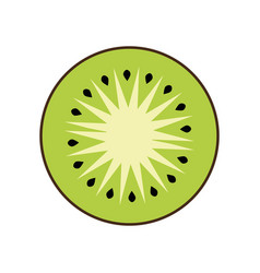 Kiwi slice icon vector