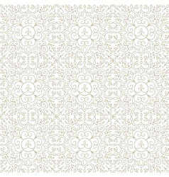 line lace floral abstract seamless vector image