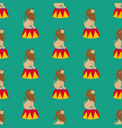 Lion in circus pattern vector