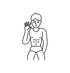 male striptease line icon concept male striptease vector image