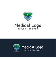 medical shield logo vector image