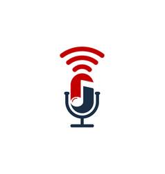 Melody podcast logo icon design vector