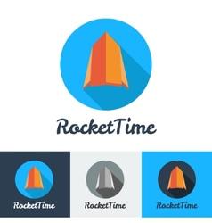 Modern flat rocket minimalistic logo vector