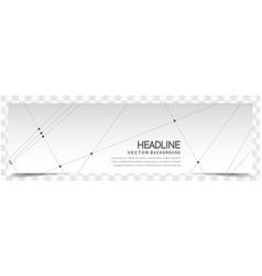 modern line network white headline image vector image