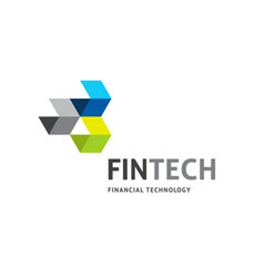 Modern logo concept design for fintech vector