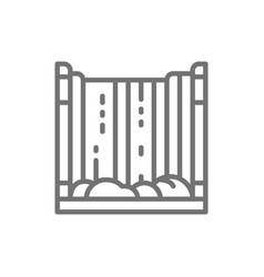 Niagara falls waterfall line icon vector
