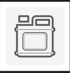 Oil container icon vector