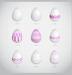 Pink easter eggs vector