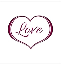 Pink Heart on White Background for a Valentine Day vector image