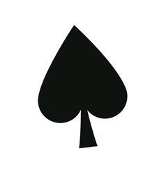 Poker card sign spade ace play icon vector