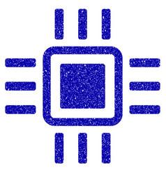 Processor icon grunge watermark vector