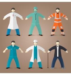 Professions set of medical doctors vector