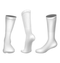 realistic football socks white template vector image