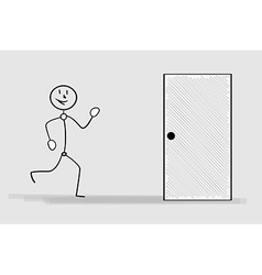 Running man and door vector