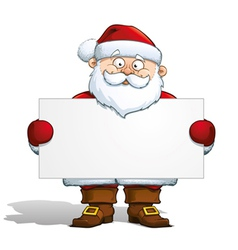 Santa Holding a Label vector image