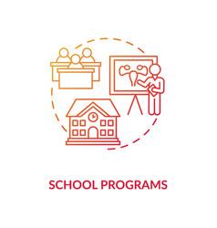 School programs concept icon vector