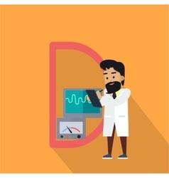 Science alphabet letter - d vector