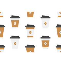 Seamless pattern with coffee cup vector