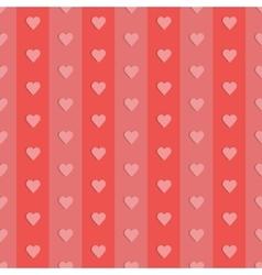 seamless retro pattern hearts vector image