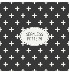 seamless retro vintage geometrical hipster pattern vector image